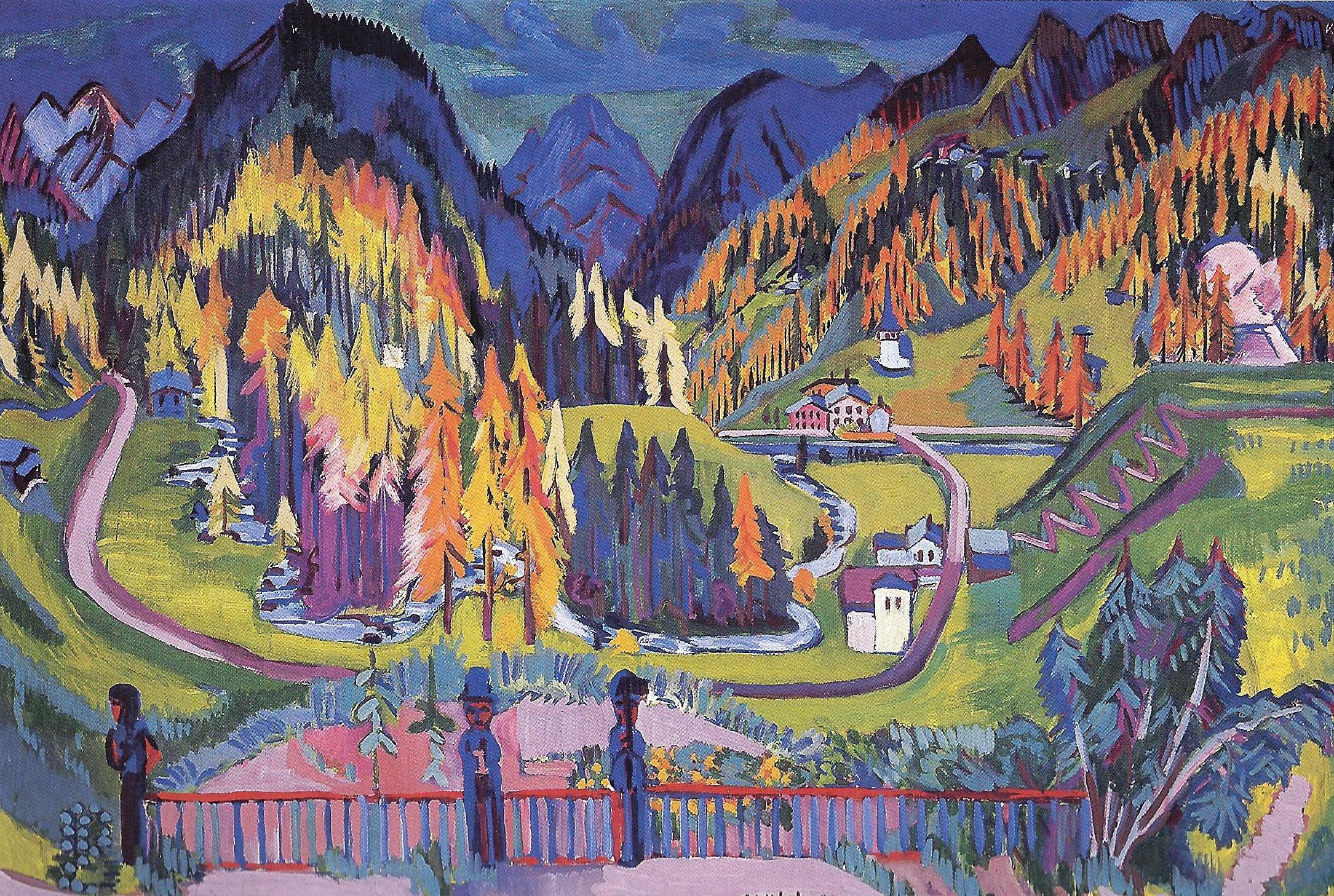 Ernst Ludwig Kirchner, Sertig Valley in Autumn, 1925-26 © Kirchner Museum Davos