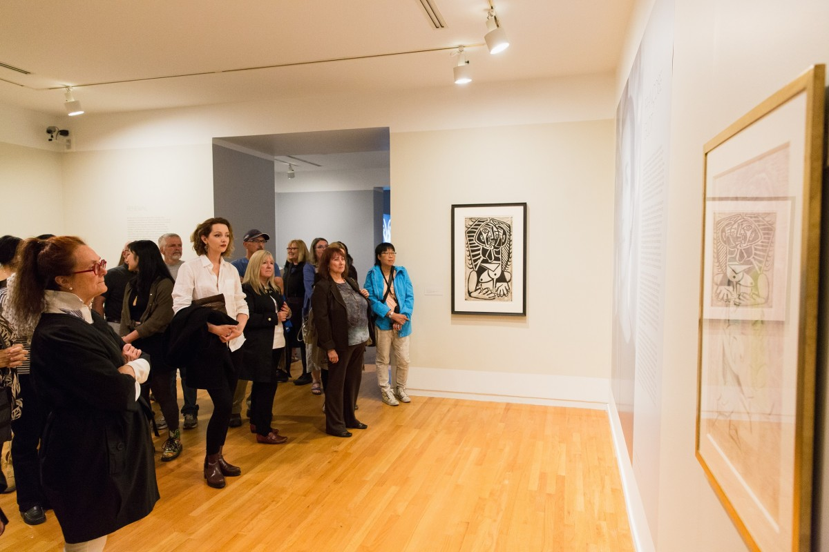 View of the exhibition during the members opening, photograph by Pardeep Singh