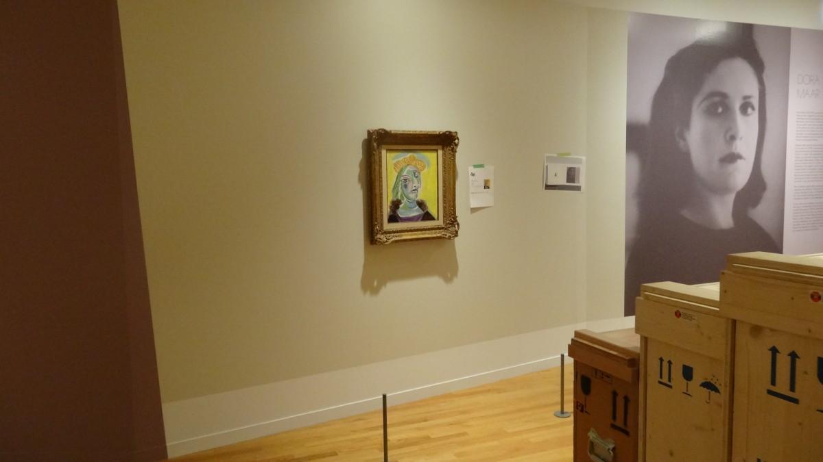 Installation of Pablo Picasso, 'Bust of a Woman (Dora Maar)', 1938, Hirshhorn Museum and Sculpture Garden © Picasso Estate/Prolitteris (2016)