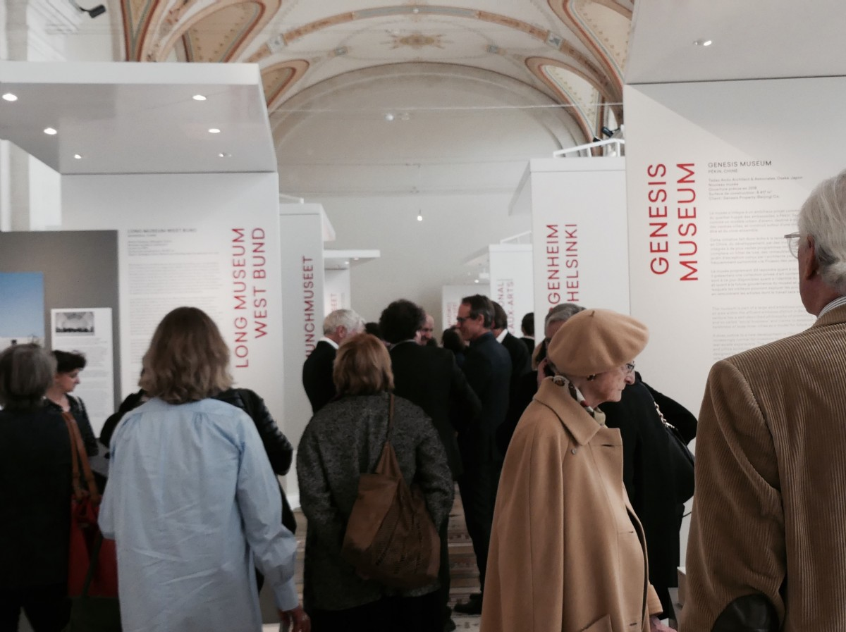 View of the exhibition during the opening