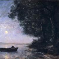 Jean-Baptiste Camille Corot, 'Le lac, effet de nuit', ca. 1869