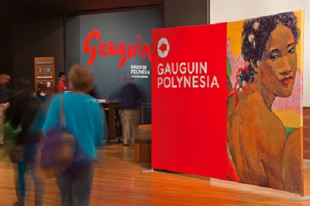 Entrance Gauguin Polynesia Seattle Art Museum