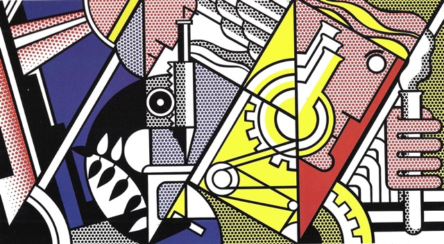 Roy Lichtenstein, Peace through Cemistry II, 1970, Lithograph, 96 x 161 cm, Edition of 43, signed and numbered © Estate of Roy Lichtenstein / 2014, ProLitteris, Zurich